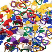 Party Decoration Mixed Colors Heart Shape Metallic Table Confetti