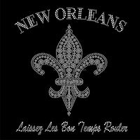 fleur de lis iron on rhinestone bling transfer FY66 (12)