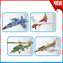 DIY Puzzle Painting Toy Graffiti Painted Aircraft Toys