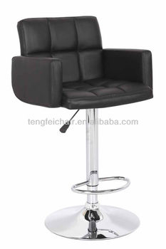 Modern PU bar stool with armrest/ 360 degree and height adjustable/ all color