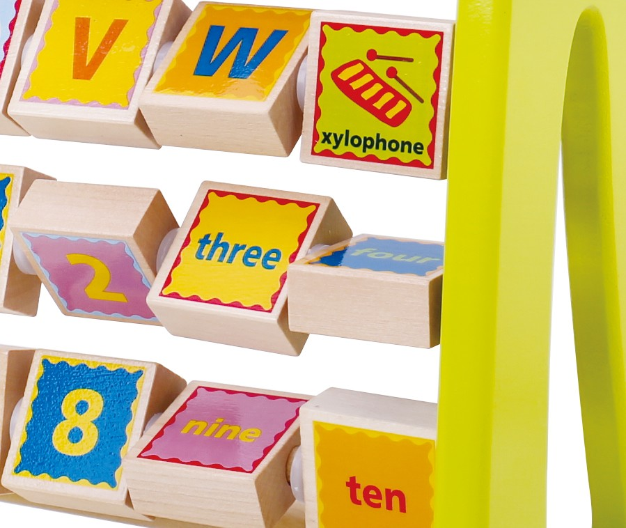 Wholesale alphabet abacus wooden educational toy for kids
