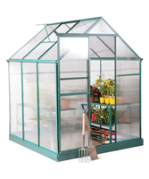 6ft x 6ft Deluxe polycarbonate panels Aluminium Frame Green house