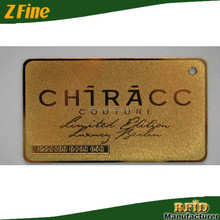 Die Cut Plating Laser Cut Metal Business Card/Engraved Metal Business Card Metal Cards