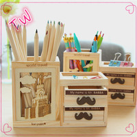 Classy Exclusive Multi Purpose magnetic pen holder,New items wood desk organizer,Eiffel Tower design wood pencil holder