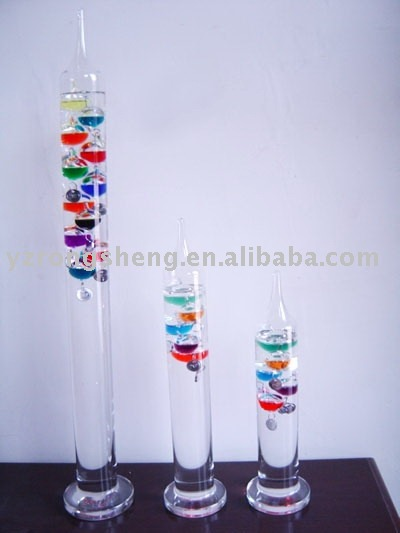 glass galileo love thermometer