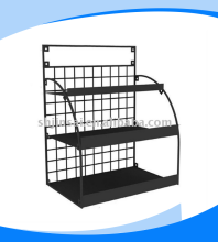 Metal wire counter display rack for convenience stores