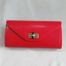nice look PU handbag with lock closure