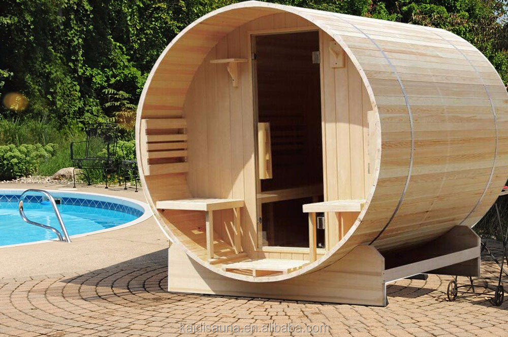 High quality 6 People Solid Wood Main Material cedar barrel sauna