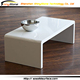 Modern look designer white solid surface extend white dining table
