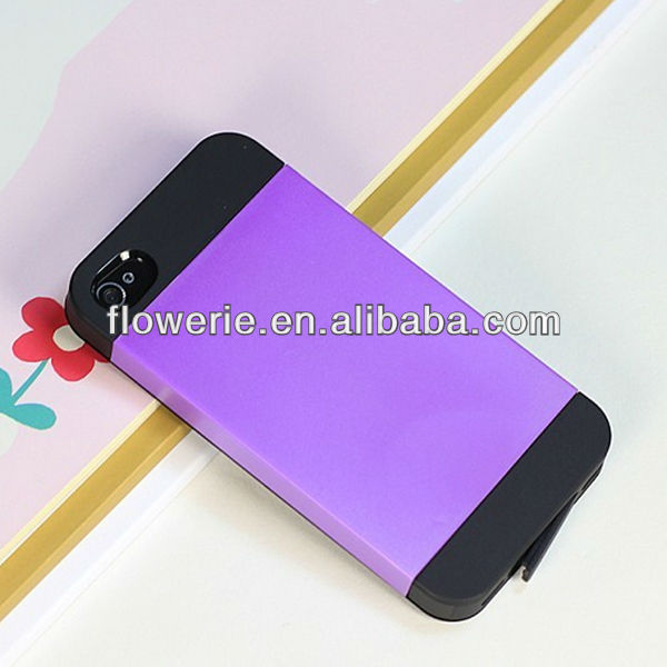 FL2572 2013 hot selling two color pc silicone amour case for iphone 5 5G