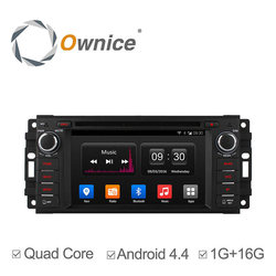 Ownice Android 4.4 Quad core car audio system with GPS for Jeep Chrysler Dodge with mirror link 16G mirrow link