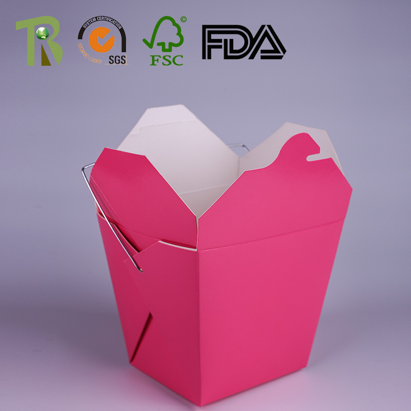 Customised Sized Round Square Take Out Cardboard Noodle Box