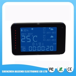 1080P Digital Weather Forecast with Temperature Humidity Display Hidden Desk Alarm spy wifi clock camera