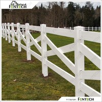 Cross Rail PVC Field Fence, Horse Fence, Farm Fence