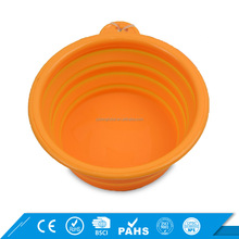 BPA Free Dog Water Food Feeder Colorful Collapsible Silicone Large Pet Travel Bowl