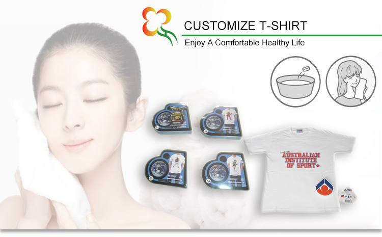 Promotional 100% Cotton Compressed T Shirt with Round Neck