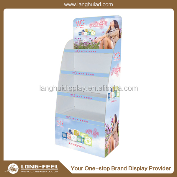 Latest arrival Shawl cardboard floor display rack/ display stand