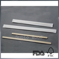 Disposable wooden drink stirrers wooden coffee stirrers