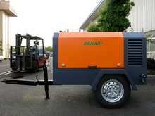 Industrial diesel power portable rotary screw compressor