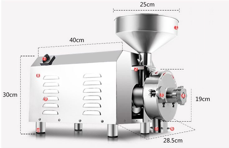 2.2 KW Electric Automatic Coffee/Pepper/Chili Grinder Machine