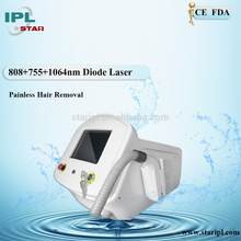 triple wavelengths alex 755 diode 808 nd yag 1064 nm Beauty Salon Equipment laser hair removal machine