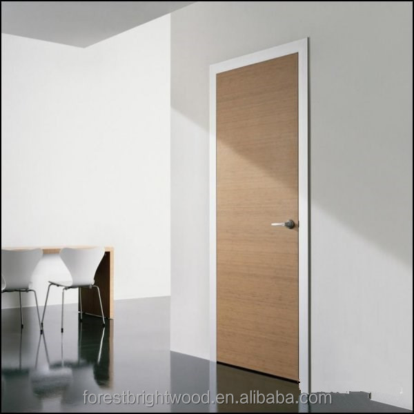 Enginneer Oak Veneer Lacquer Prefinished Solid Wood Bedroom Door