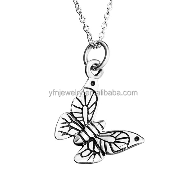 Alibaba Website Silver Hot 3D Butterfly Necklace Accessories for Women