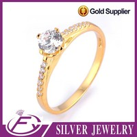 Thailand aaa cz stone silver 925 sterling plated 24k gold jewellery