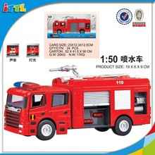 Top quantity kids sliding spraying car model with light &music,die-cast alloy car model