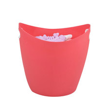 Flexiable Bathroom Dirty Clothes Portable Plastic Laundry Bucket Colorful Wash Tub Storage Basket