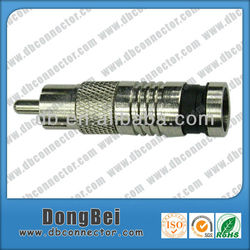 Compression male rca connector,rg59 rg6 rca to coax