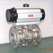 China made stainless steel ss316 flange connection pneumatic ball valve