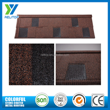 Shingles roofing materials stone chip coated steel tile