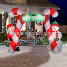 Waterproof Outdoor/Indoor Art Inflatable Santa Arch Christmas Decoration