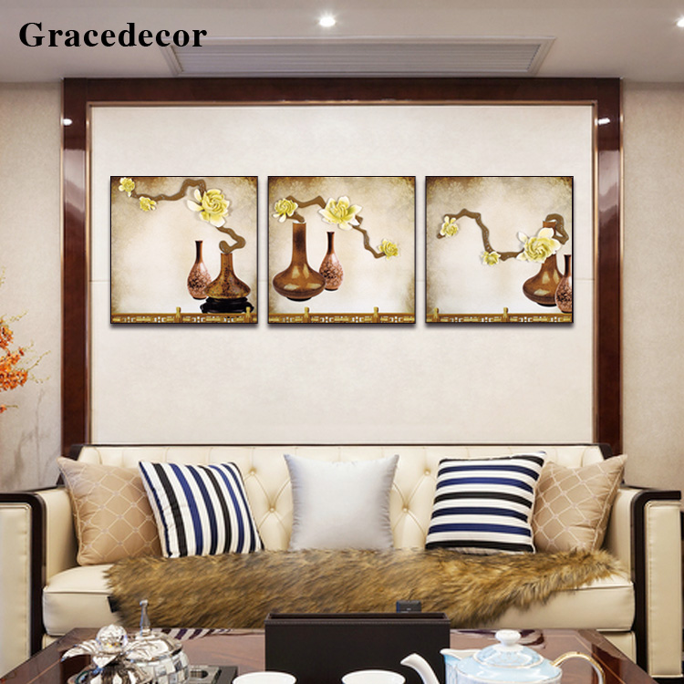 Home Wall Ornamental Handmade Still Life 3D Mural Decor Painting
