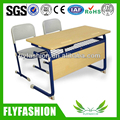 Double table design school desk and chair for classroom