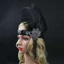 Hot Sale Female Indian Tassel Beads Sequinned With Feather Hair Headband