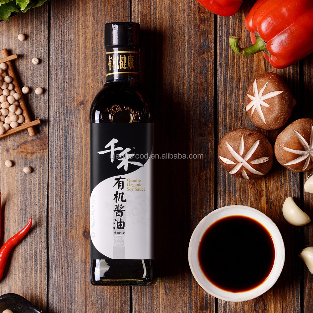 Wholesale asian fermented foods of soy sauce in pretty glass bottles