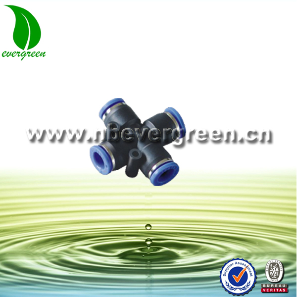 Plastic One touch union cross pneumatic fittings
