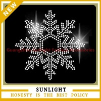 Rhinestone Snowflake T Shirt Transfer - Snowflake Style A Iron On Rhinestone Transfer