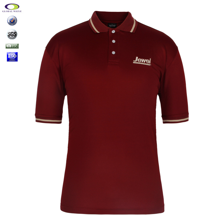 Hot Sale Polo T Shirt 100% Cotton Mens Design For Your Own Logo