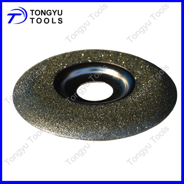 "4""Electroplated Diamond Grinding Wheel abrasive tools for marble glass"