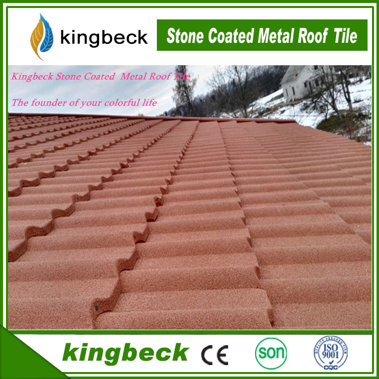 Galvalume Steel Roofing System Kingbeck Stone Coated Steel roof tile