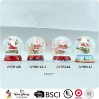 80MM Christmas plastic snow water globe