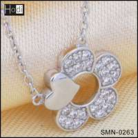 Wholesale New Fashion 925 Sterling Silver Jewelry Ladies Necklace