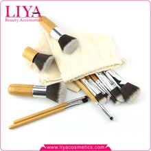 China manufacturer promotional bamboo cheap makeup brush kits