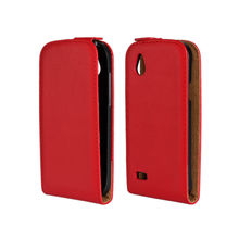 Magnetic Flip Cover Genuine Leather Case For HTC Desire V T328W / Desire X T328e with 11 Colors