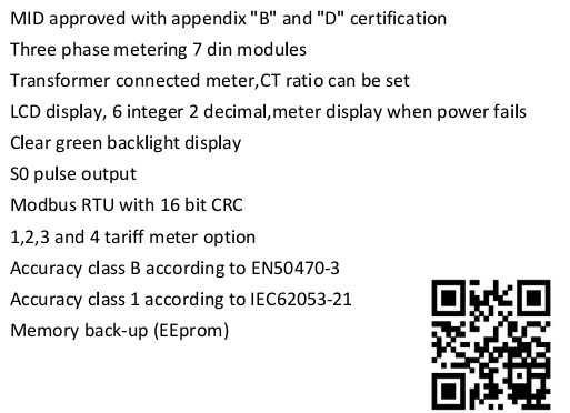 EM737 CT 3*230/400V 1.5(6)A power watt meter app test