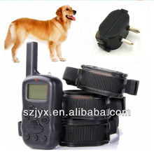 X600 anti bark rechargeable remote control slave dog training vibrating shock collar and leashes for <strong>pets</strong> in house and garden