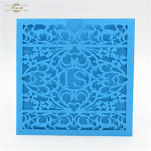 pocket fold invitation laser cut wedding card wedding envelope